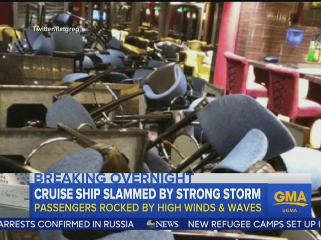 Cruise ship rocked by 100-mph winds will dock in Florida
