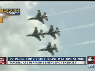 MacDill Air Force Base practices crash response