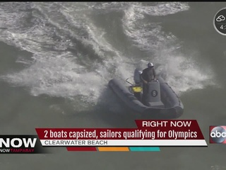 2 boats capsize near Pier 60 in Clearwater