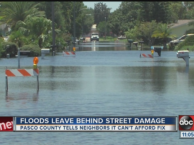 Pasco residents fed up over flood plagued roads