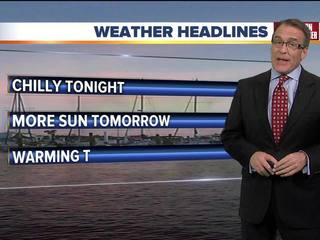 FORECAST: Cooling off again tonight