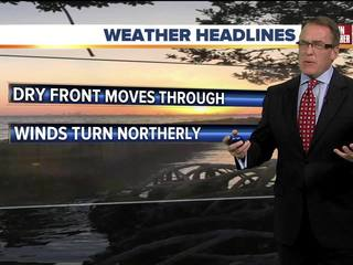 FORECAST:  Cooling off again this weekend