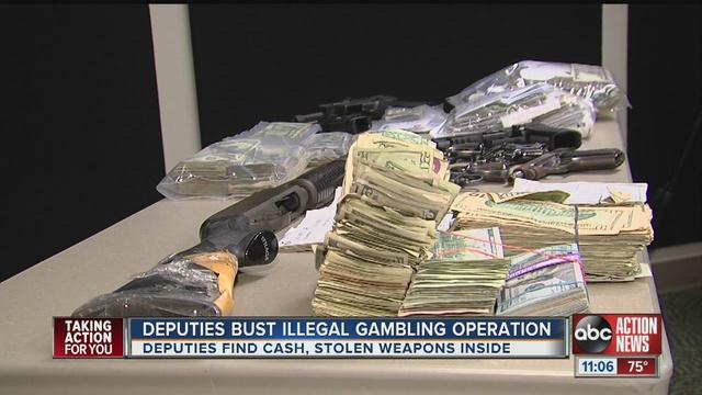 Illegal gambling bookmaking merchant food service gambling