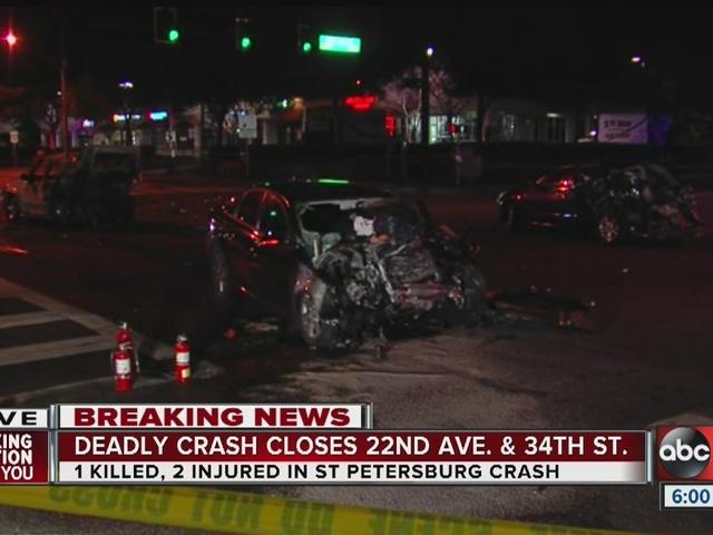 One killed, 2 injured in St  Pete traffic crash
