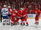 Red Wings shutout Bolts 2-0 in Game 3