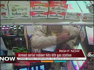 Serial armed robber getting more bold