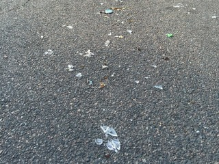 Recycling truck leaves glass mess in North Tampa