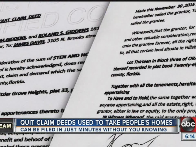 Tampa Residents Discover Homes Stolen Without Their Knowledge