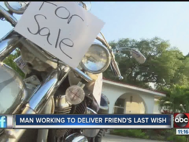 Man sells prized possessions to give friend final wish