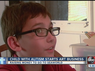 Autistic boy starts business to get to SeaWorld