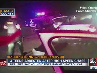 Video shows middle schoolers ram deputies