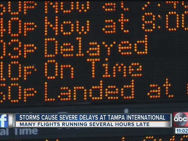 Storms force delays and cancellations at Tampa International Airport