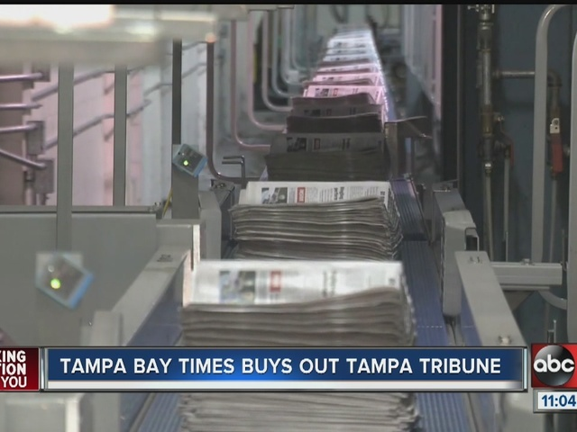Tampa Bay area wakes up without The Tampa Tribune