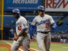 Thompson drives in 4 to lead Dodgers over Rays