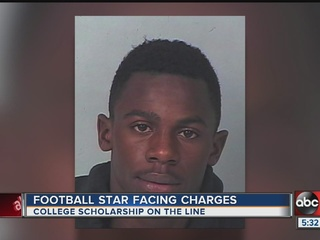 Local football star faces felony charges