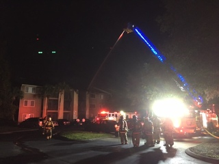 Two-alarm fire damages apartments in Northdale