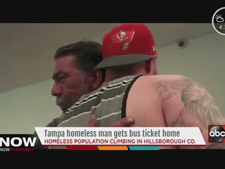 Tampa man buys homeless man ticket home