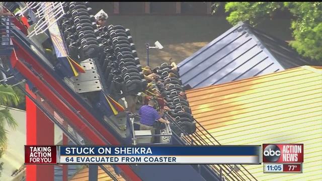 Busch Gardens Evacuates Sheikra Passengers After Malfunction Shutdown Wfts Tv