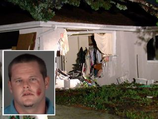 Driver flees after crashing into Pasco home