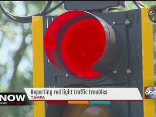 Reporting red light timing frustrations to city