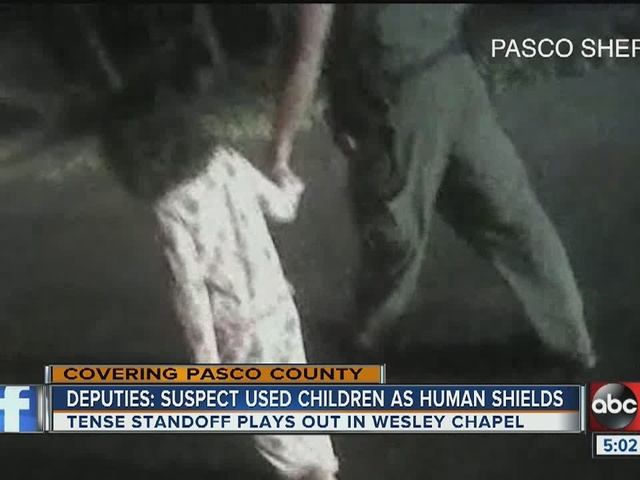 Man uses children as human shields in standoff