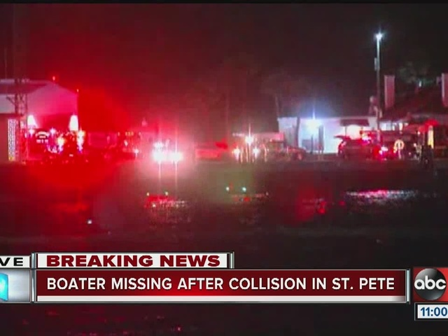 Boater missing after collision in St. Pete