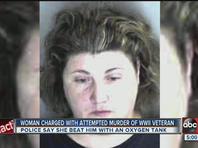 Caregiver charged with attempting to murder local WWII veteran with oxygen tank