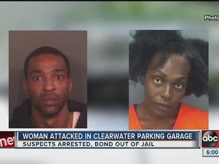 Fleeing burglars hold down and beat woman