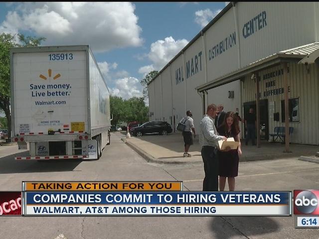 Walmart, AT&T announce jobs for Florida veterans