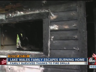 Lake Wales family escapes fire