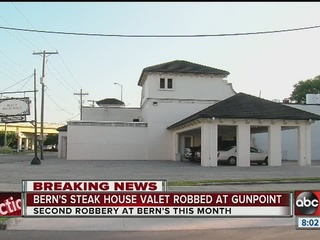 Second valet at Bern's eatery robbed at gunpoint