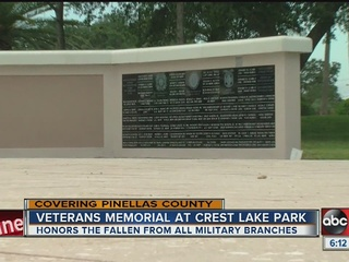 Veterans' memorial opens in Clearwater