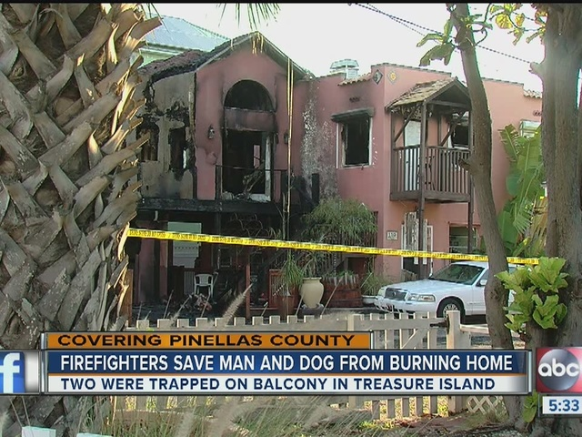 Four people saved as fire destroys two Treasure Island homes