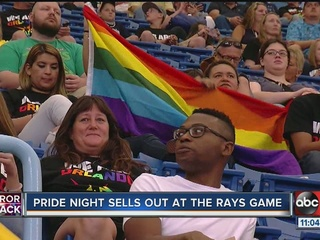 Pride night sells out at the Rays game