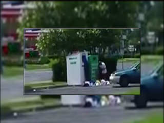 Video shows thieves stealing from donation bins
