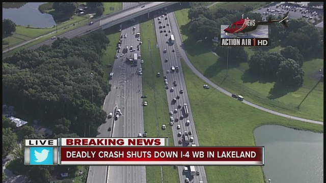 I-4 closed near Lakeland after serious crash, at least 4 dead