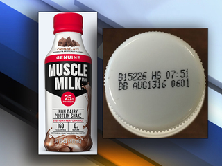 RECALL: Muscle Milk protein shakes