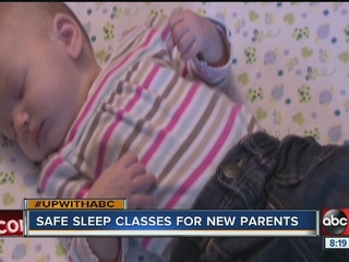 Safe sleep classes offer new parents useful tips