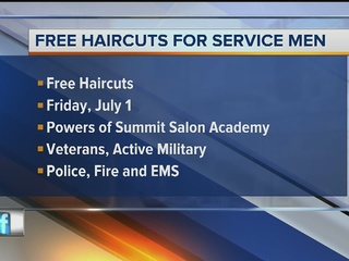 Free haircuts for vets, military, 1st responders