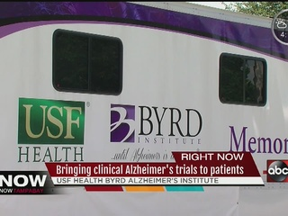 Mobile research unit helps Alzheimer's patients