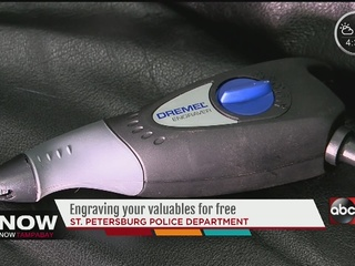 St. Pete police let you borrow engraver for free