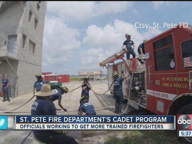 St. Pete Fire hoping for new recruits through cadet program