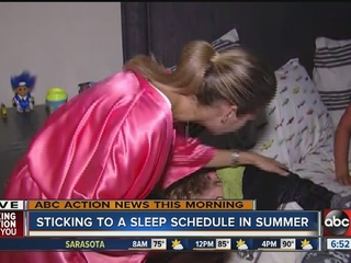 Setting summer sleep schedules for your kids...