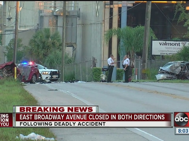 Deadly traffic crash shuts down East Broadway Avenue near Tampa