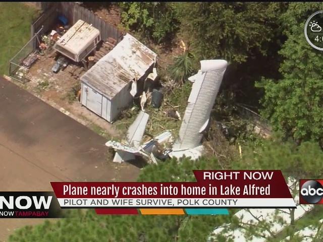 Married couple injured in Polk Co. plane crash