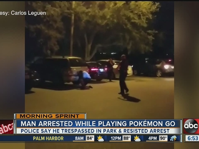 NEW VIDEO | Police tase man after he resists arrest at Pokemon Go meetup