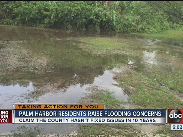 Palm Harbor residents raise flooding concerns