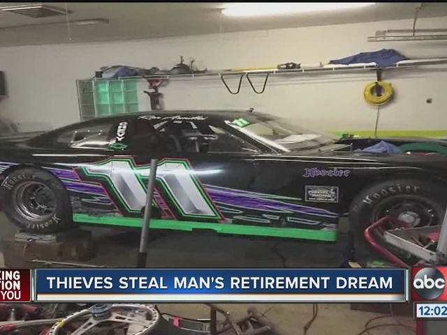 Racecar stolen from Land O' Lakes storage yard