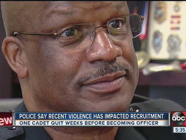 Recent targeted shootings in U.S. affecting police recruitment