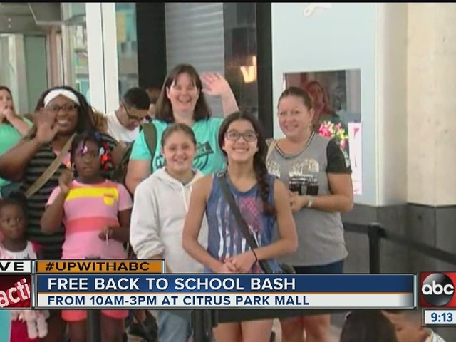 Bash aims to get students excited about going back to school